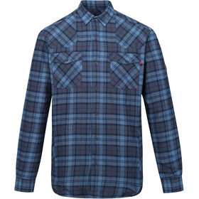 Regatta Tavior Longsleeve Shirt Heren, dark denim check